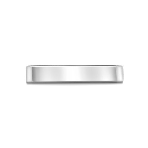 3mm Flat Court Band in 18ct White Gold