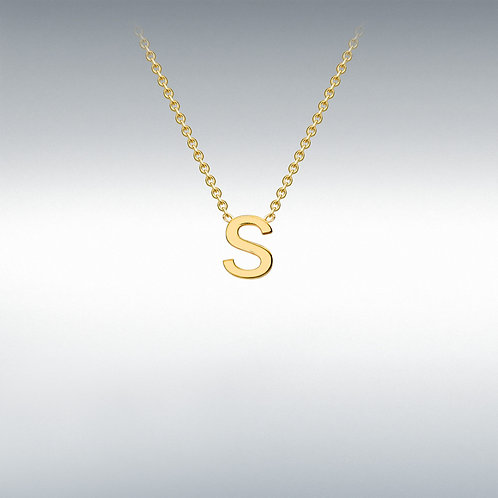 9ct Yellow Gold Initial S