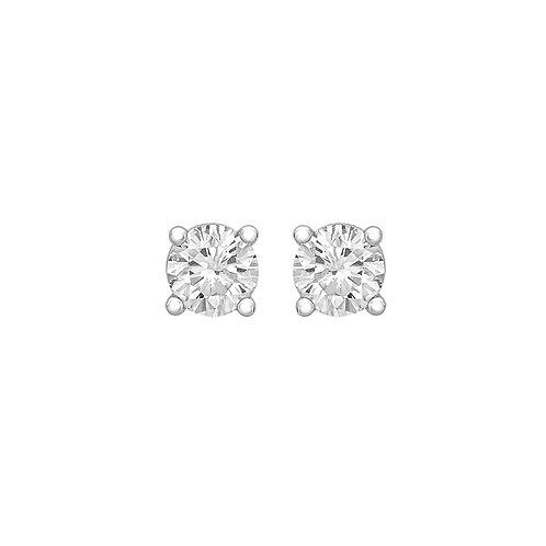 14ct White Gold 2.8mm Diamond Stud Earrings