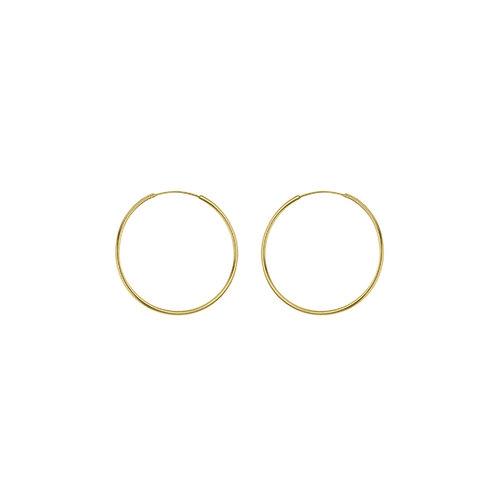 Yellow Gold Vermeil 20mm Classic Hoop Earrings