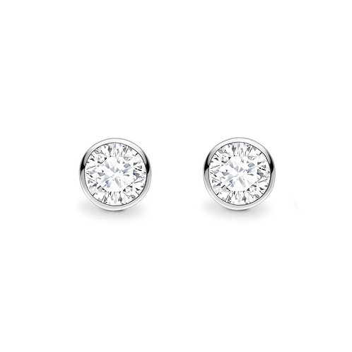 0.40ct Diamond Bezel Set Stud Earrings