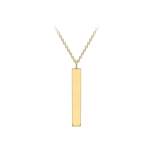 9ct Yellow Bar Necklace