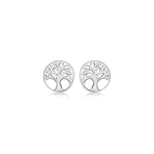 Sterling Silver 'Tree of Life' Stud Earrings