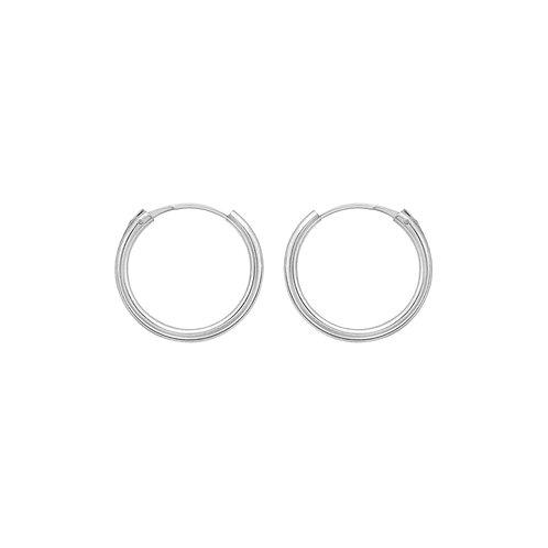 Sterling Silver 15mm Hoop Earrings