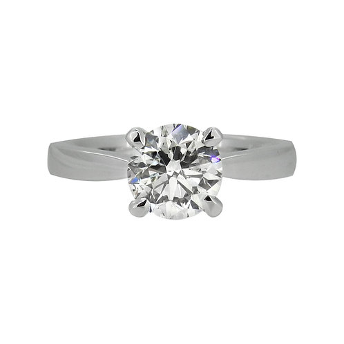 Platinum 2.01ct HRD Certified Diamond Solitaire Ring
