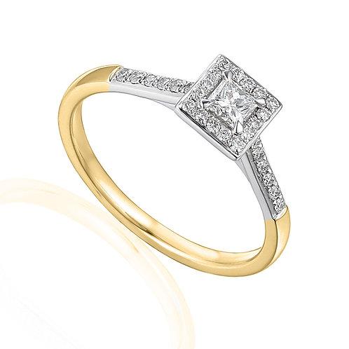 0.38ct Diamond Solitaire Halo Ring