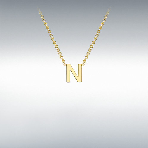 9ct Yellow Gold Initial N