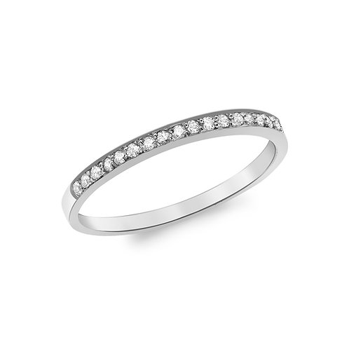 9ct White Gold 0.13ct Diamond Set Eternity Ring