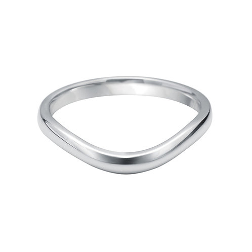 U Shaped Band in 18ct White Gold