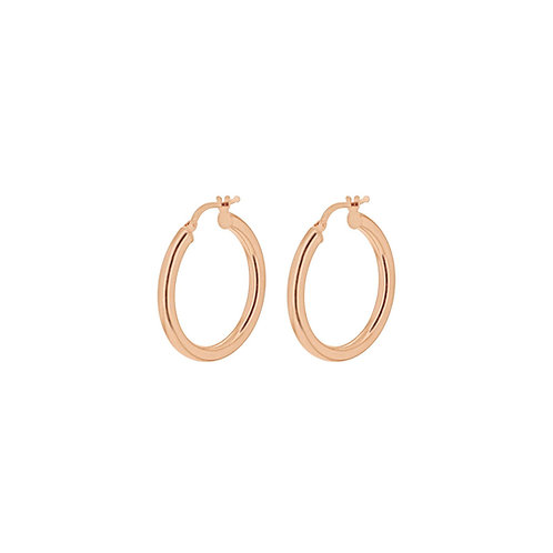 9ct Rose Gold 25mm Hoop Earrings