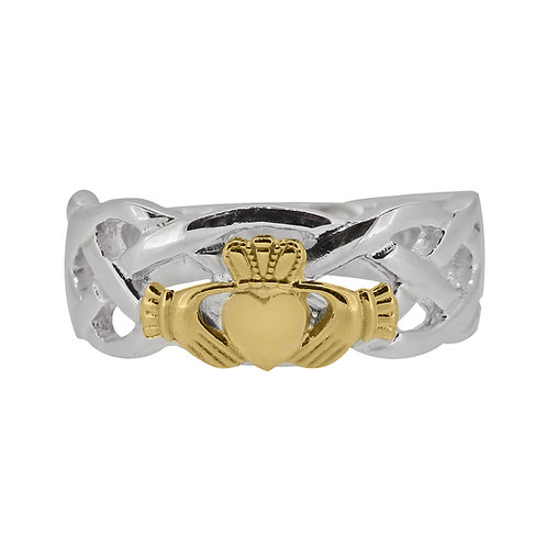 10ct White and Yellow Gold Gents Unity Ring