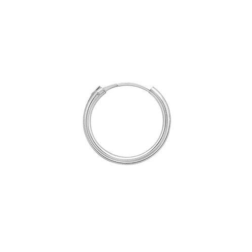 Sterling Silver 15mm Classic Hoop