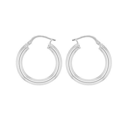 Sterling Silver 21mm Creole Earrings