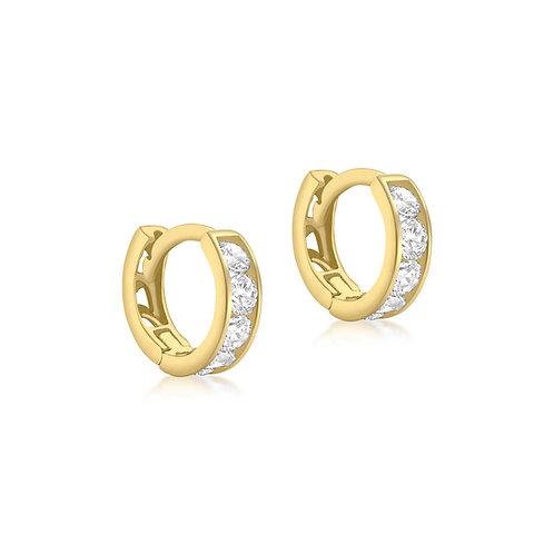 9ct Yellow Gold 9mm Huggie Earrings