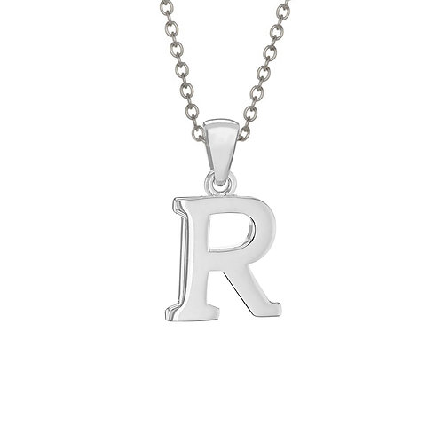 Sterling Silver Letter R Pendant