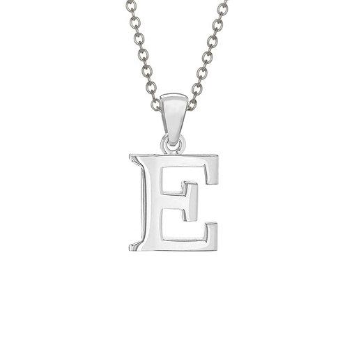 Sterling Silver Letter E Pendant