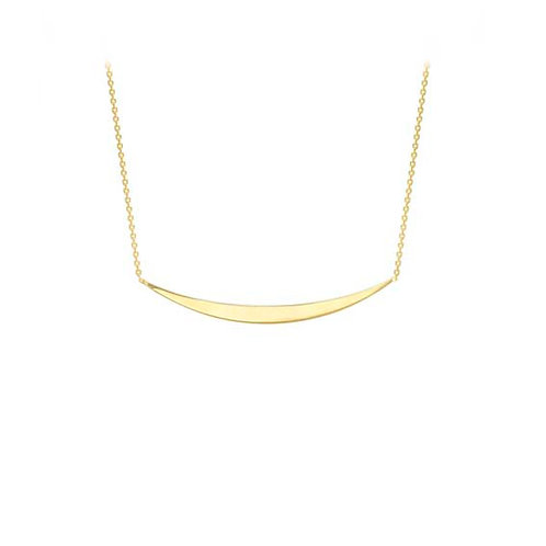 9ct Yellow Gold Smile Pendant