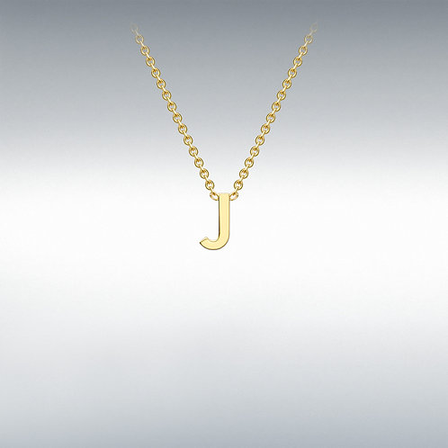 9ct Yellow Gold Initial J