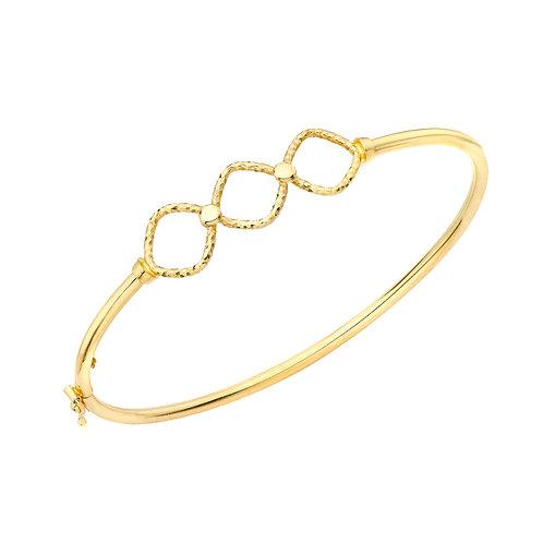 9ct Yellow Gold Diamond Cut Bangle