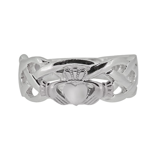 10ct White Gold Gents Unity Ring