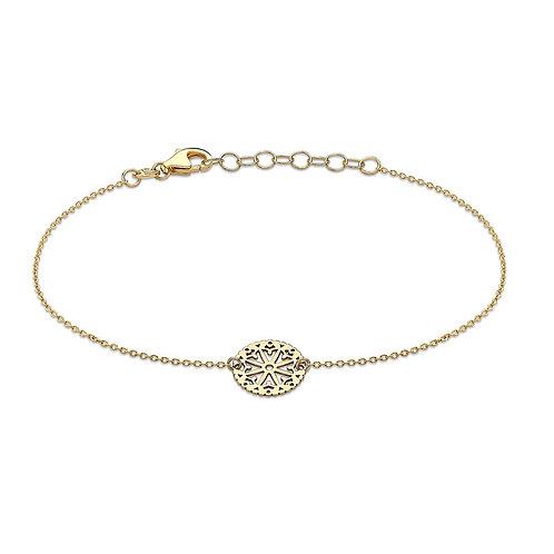 9ct Yellow Lace Design Bracelet