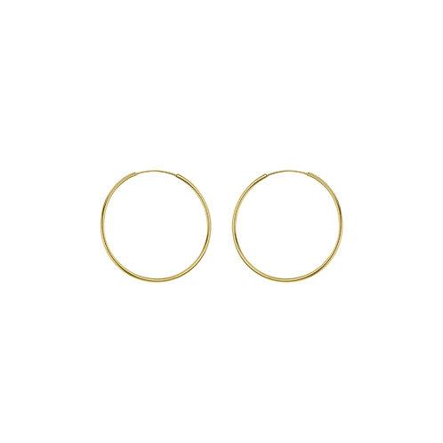 Yellow Gold Vermeil 16mm Classic Hoop Earrings