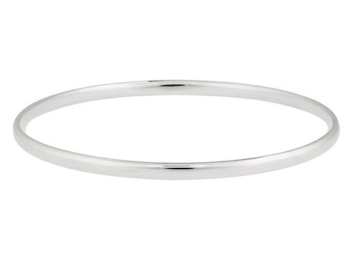 9ct White Gold Bangle