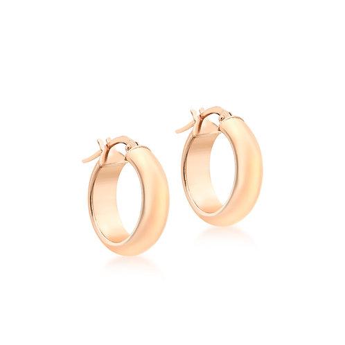 9ct Rose Gold 19mm Thick Hoop Earrings
