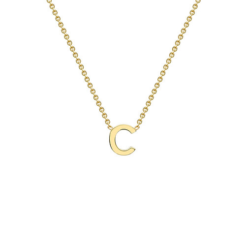 9ct Yellow Gold Initial C