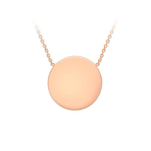 9ct Rose Gold Disc Pendant