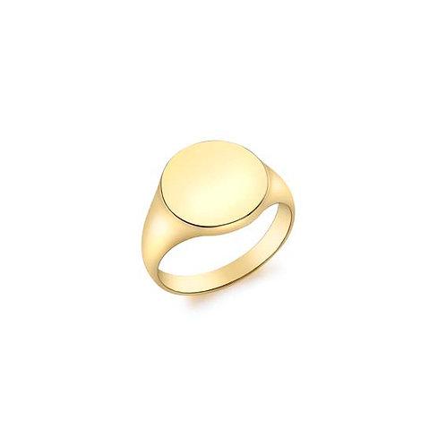 9ct Yellow Gold Round Signet
