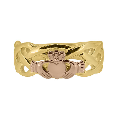 10ct Yellow and Rose Gold Gents Unity Ring