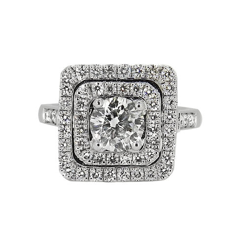18ct 1.88ct Diamond Cluster Ring