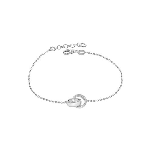 Sterling Silver Linked Rings Bracelet