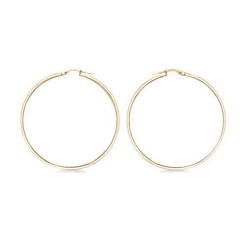 Rose Gold Vermeil 60mm Creole Hoop Earrings