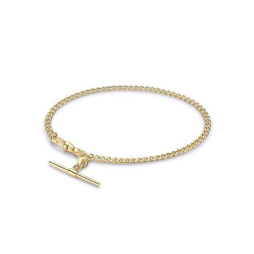 9ct Yellow Gold T Bar Bracelet
