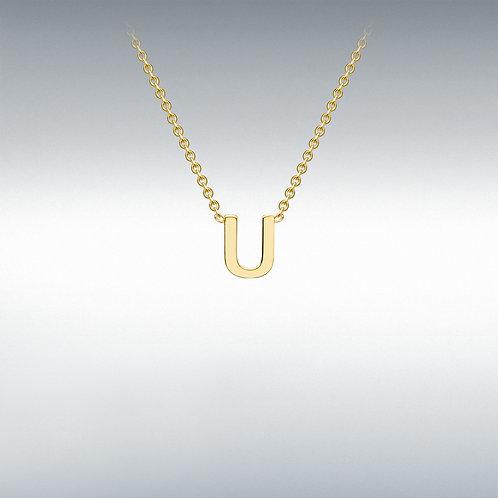 9ct Yellow Gold Initial U