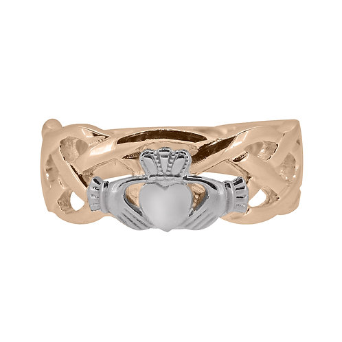 10ct Rose and White Gold Gents Unity Ring