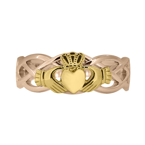 10ct Rose and Yellow Gold Ladies Unity Ring