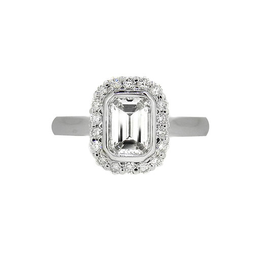Platinum 1.14ct Diamond Cluster Ring