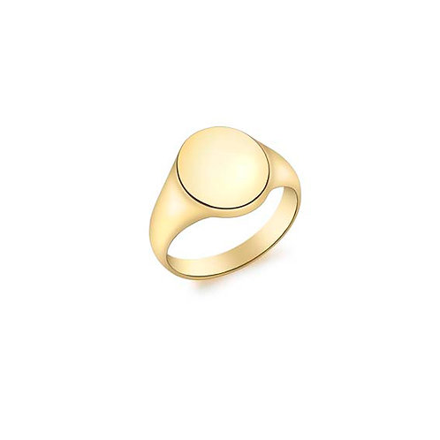 9ct Yellow Gold Oval Signet