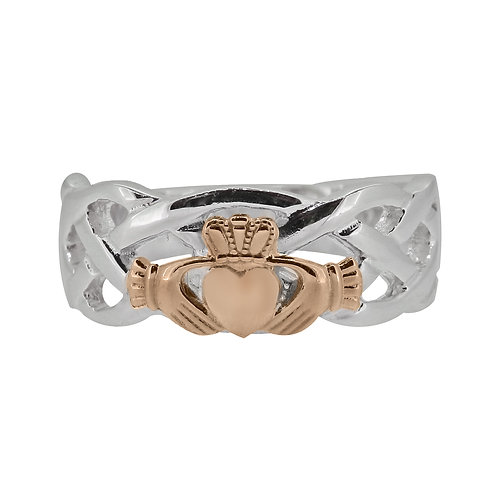 10ct White and Rose Gold Gents Unity Ring