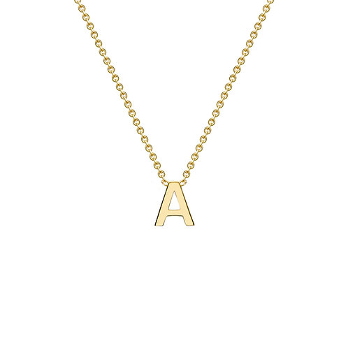 9ct Yellow Gold Initial A