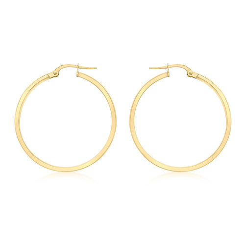 9ct Yellow Gold 30mm Creole Earrings