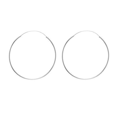 Sterling Silver 70mm Classic Hoop Earrings