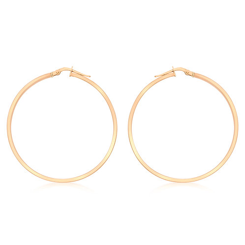9ct Rose Gold 40mm Creole Earrings