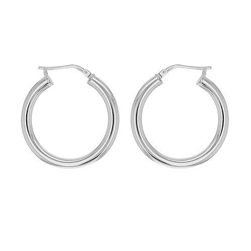Sterling Silver 26mm Creole Earrings