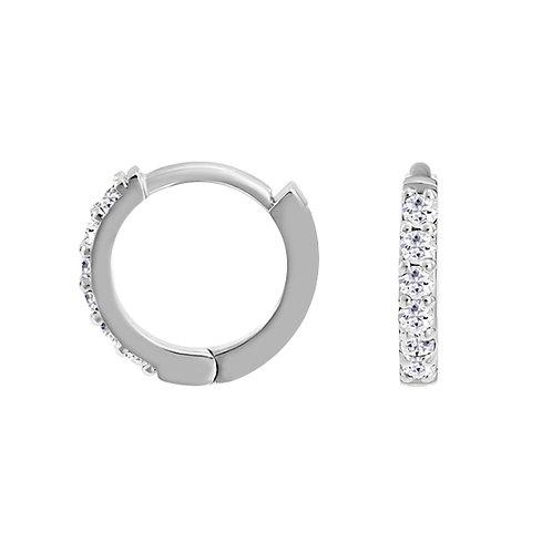14ct Gold Diamond Set Huggie Earrings