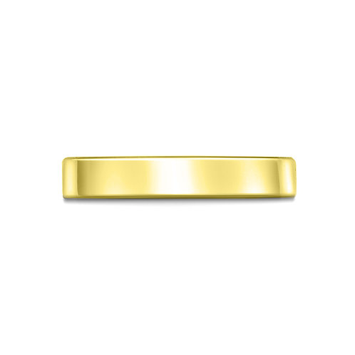 3mm Flat Court Shaped Band in 18ct Yellow Gold