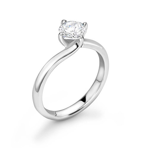 0.50ct Diamond Solitaire Twist Ring